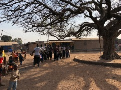 Dundunba in the village cente